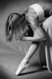 παντόφλες κοριτσιών μπαλέτου Στοκ φωτογραφία με δικαίωμα ελεύθερης χρήσης