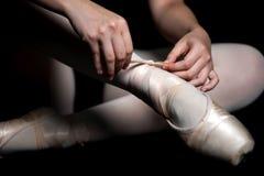 Παντόφλες μπαλέτου Στοκ εικόνα με δικαίωμα ελεύθερης χρήσης