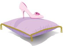 Παντόφλα γυαλιού πριγκηπισσών στοκ φωτογραφία με δικαίωμα ελεύθερης χρήσης
