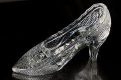 Παντόφλα γυαλιού Cinderella Στοκ Φωτογραφίες