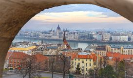 Πανόραμα άποψης της Βουδαπέστης Στοκ φωτογραφία με δικαίωμα ελεύθερης χρήσης