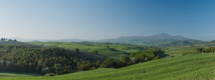 Πανόραμα άποψης της Τοσκάνης στοκ εικόνες