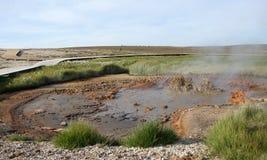 Πανόραμα λάσπης Hveravelir geysir Στοκ Φωτογραφίες