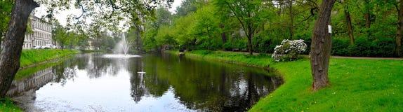 Πανόραμα Άλτενμπουργκ Γερμανία λιμνών Pauritzer Στοκ φωτογραφία με δικαίωμα ελεύθερης χρήσης