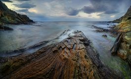 Πανόραμα ακτών της Κορσικής Στοκ Εικόνες