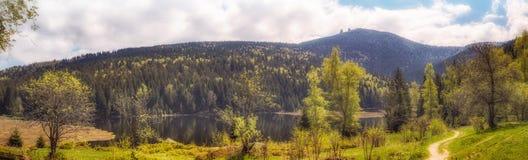 Πανόραμα από λίγη λίμνη arber Στοκ Φωτογραφίες