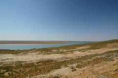 Πανόραμα από τον ποταμό Amu Darya κοντά σε Urgench E στοκ εικόνες