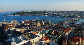 Πανόραμα από τον πύργο Galata Κωνσταντινούπολη Τουρκία στοκ φωτογραφίες