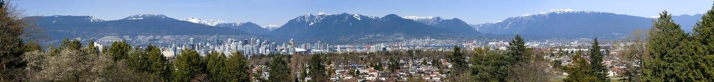 πανόραμα Βανκούβερ του Καναδά στοκ εικόνα με δικαίωμα ελεύθερης χρήσης