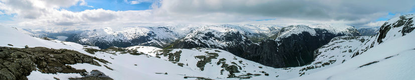 Πανόραμα βουνών της Νορβηγίας στοκ φωτογραφία