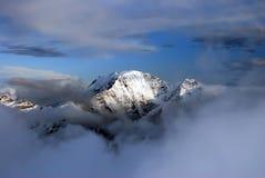 πανόραμα βουνών τοπίων Καύκ&al Στοκ φωτογραφία με δικαίωμα ελεύθερης χρήσης