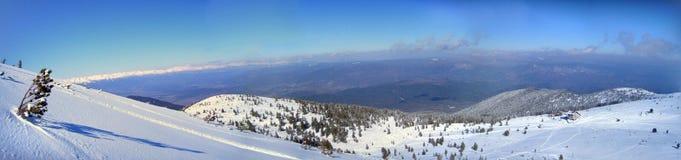 Πανόραμα βουνών χιονιού Στοκ Εικόνα
