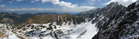πανόραμα βουνών Στοκ εικόνες με δικαίωμα ελεύθερης χρήσης