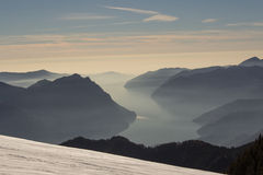 Πανόραμα βουνών στοκ εικόνες