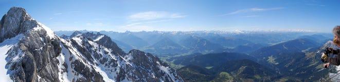Πανόραμα βουνών Dachstein Στοκ Εικόνες