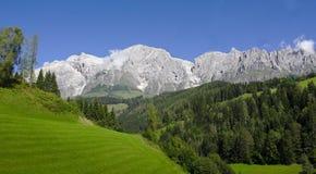 Πανόραμα βουνών Hochkoenig Στοκ εικόνες με δικαίωμα ελεύθερης χρήσης