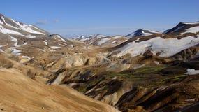 Πανόραμα βουνών Kerlingarfjöll Στοκ Φωτογραφίες