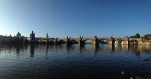 Πανόραμα γεφυρών του Charles Στοκ φωτογραφίες με δικαίωμα ελεύθερης χρήσης
