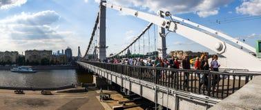 Πανόραμα γεφυρών Krymsky στοκ εικόνα