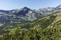 Πανόραμα γύρω από τη λίμνη Popovo, βουνό Pirin Στοκ εικόνες με δικαίωμα ελεύθερης χρήσης