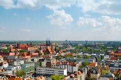 Πανόραμα εικονικής παράστασης πόλης Wroclaw Στοκ φωτογραφία με δικαίωμα ελεύθερης χρήσης