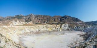 Πανόραμα Ελλάδα ηφαιστείων Nisyros στοκ εικόνες με δικαίωμα ελεύθερης χρήσης