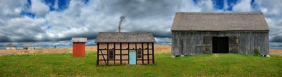 Πανόραμα εμβλημάτων γαλακτοκομικών αγροκτημάτων του Ουισκόνσιν Στοκ Φωτογραφίες