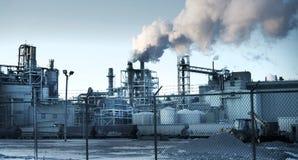 Πανόραμα εργοστασίων Στοκ εικόνες με δικαίωμα ελεύθερης χρήσης
