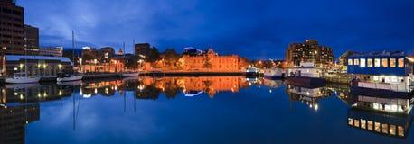 Πανόραμα ηλιοβασιλέματος όρμων του Χόμπαρτ στοκ εικόνες με δικαίωμα ελεύθερης χρήσης