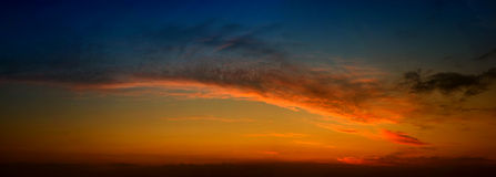 Πανόραμα ηλιοβασιλέματος Στοκ φωτογραφίες με δικαίωμα ελεύθερης χρήσης
