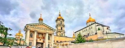 Πανόραμα ιερού Dormition Pochayiv Lavra, ένα ορθόδοξο μοναστήρι σε Ternopil Oblast της Ουκρανίας Στοκ Εικόνες