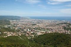 πανόραμα Ισπανία της Βαρκελώνης Στοκ εικόνες με δικαίωμα ελεύθερης χρήσης