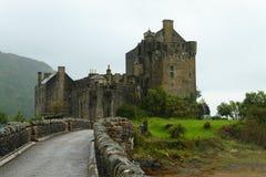 Πανόραμα κάστρων Donan Eilean, Σκωτία Στοκ εικόνες με δικαίωμα ελεύθερης χρήσης