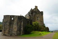 Πανόραμα κάστρων Donan Eilean, Σκωτία Στοκ φωτογραφία με δικαίωμα ελεύθερης χρήσης