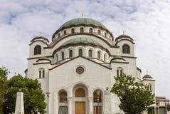 Πανόραμα καθεδρικών ναών του ST Sava σε Βελιγράδι Σερβία στοκ φωτογραφία