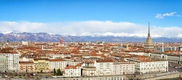 Πανόραμα καθορισμού του Τορίνου (Τουρίνο) υψηλό στοκ εικόνες