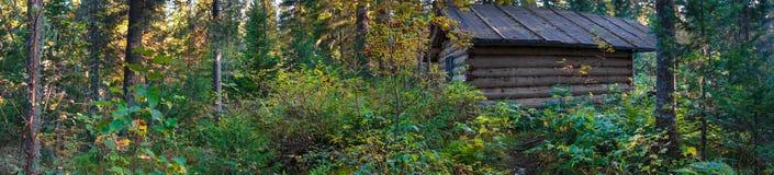 Πανόραμα καλυβών κυνηγών Στοκ Φωτογραφία