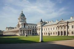 Πανόραμα κολλεγίου του Γκρήνουιτς, Λονδίνο, Αγγλία Στοκ εικόνες με δικαίωμα ελεύθερης χρήσης
