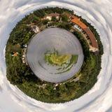 Πανόραμα κύκλων μιας μικρής πόλης Στοκ Εικόνα