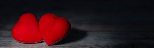 Πανόραμα με τις καρδιές στοκ εικόνα με δικαίωμα ελεύθερης χρήσης