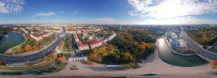 Πανόραμα Μινσκ, Λευκορωσία Equirectangular στοκ φωτογραφία