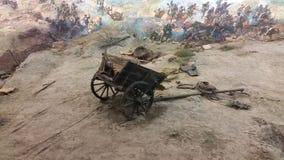 Πανόραμα μνημείων σε Pleven και τα πυροβόλα Στοκ Φωτογραφίες