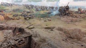 Πανόραμα μνημείων σε Pleven και τα πυροβόλα στοκ εικόνα