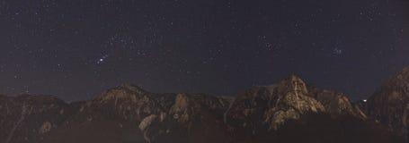 Πανόραμα νυχτερινού ουρανού Στοκ εικόνα με δικαίωμα ελεύθερης χρήσης