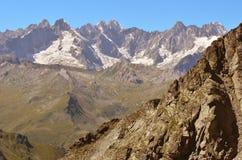 πανόραμα ορεινών όγκων ορών blanc ιταλικό mont Στοκ Φωτογραφίες