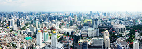 Πανόραμα οριζόντων της Μπανγκόκ στοκ φωτογραφία με δικαίωμα ελεύθερης χρήσης