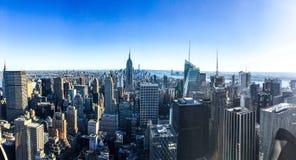 Πανόραμα οριζόντων της Νέας Υόρκης Στοκ εικόνα με δικαίωμα ελεύθερης χρήσης