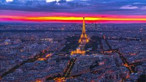 Πανόραμα οριζόντων του Παρισιού απόθεμα βίντεο
