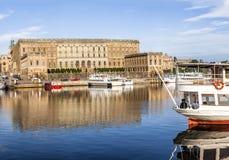 Πανόραμα οριζόντων φωτός της ημέρας της Στοκχόλμης Στοκ εικόνα με δικαίωμα ελεύθερης χρήσης