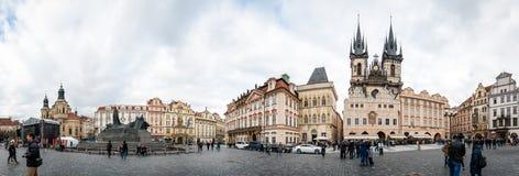 Πανόραμα, παλαιά πλατεία της πόλης της Πράγας, Δημοκρατία της Τσεχίας Στοκ εικόνα με δικαίωμα ελεύθερης χρήσης